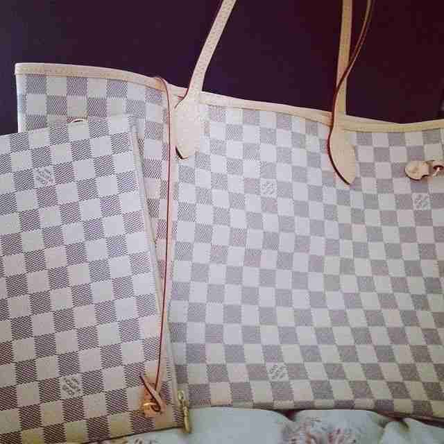 LV Neverfull Damier Azur Louis Vuitton Handbags #lv bags#louis vuitton#bags