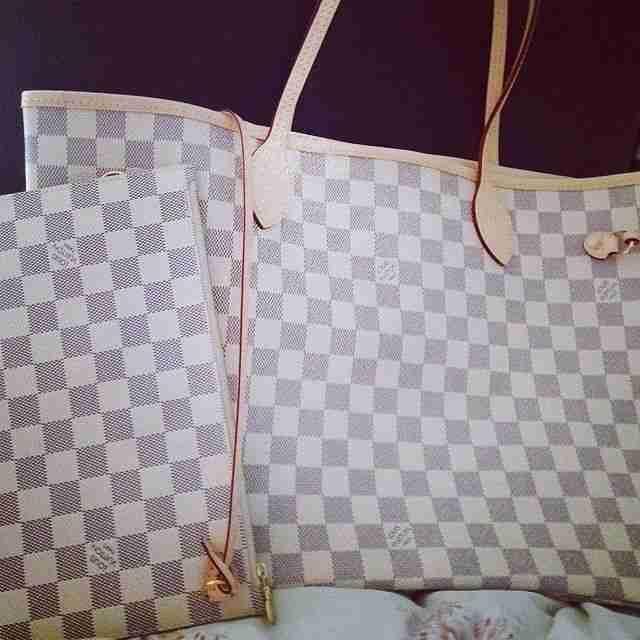LV Neverfull Damier Azur Louis Vuitton Handbags #lv bags#louis vuitton#bags