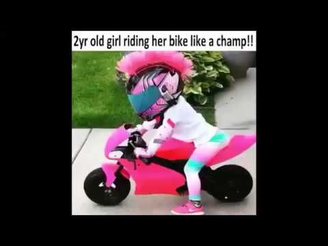 2 Yr Old Girl Rides Motorcycle Like A Pro
