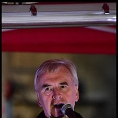 John McDonnell speaks during the Article 50 Protest in UK