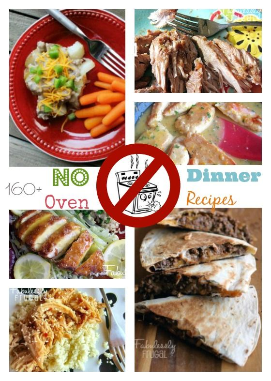 160 dinners you can make with no oven. Perfect for summer or remodeling your kitchen.