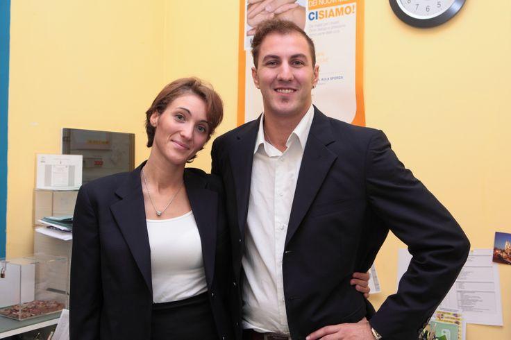 Silvia Pugliatti e Fabio Brusadelli, amministrazione e reception