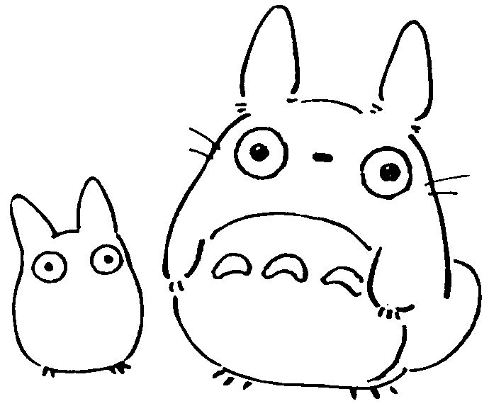 62 best coloring pages images on pinterest | coloring pages ... - Neighbor Totoro Coloring Pages