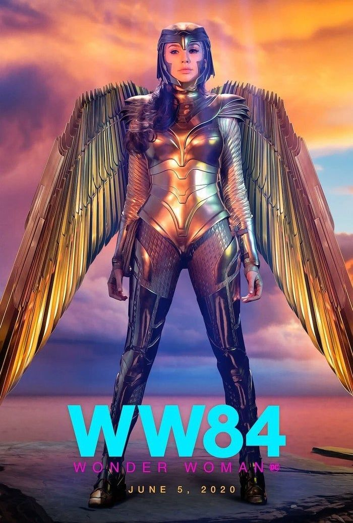 New Wonder Woman 1984 Gold Eagle Armor Posters Released In 2020 Wonder Woman Gal Gadot Wonder Woman Gal Gadot