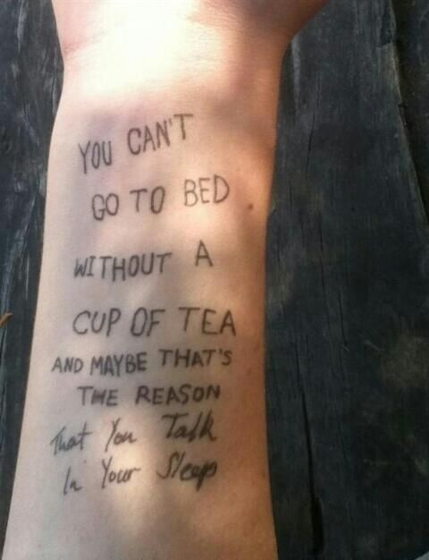 Sometimes tattoo artists just get bored on the job. | The 14 Most Hilarious British Tattoo Fails Of All Time