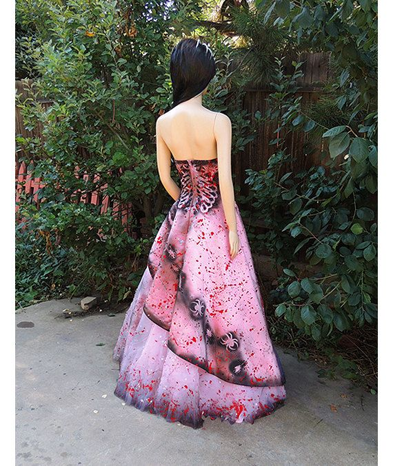 Deluxe Zombie Prom Queen Costume by GraveyardShift13 on Etsy