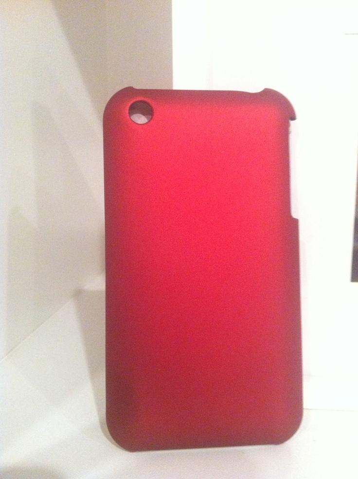 Capa Rígida Vermelha para iPhone 3/3GS
