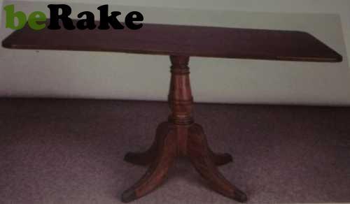 Vendo Mesa de estilo victoriana en caobilla de 73x50x85...