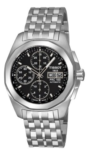 Tissot Men's T0084141105100 PRC 100 Black Day Date Chronograph Dial WatchSwiss Watches, Prc 100, Automatic Movement, Chronograph Dial, Tissot Men, Dial Watches, Day Dates, Men T0084141105100, Men Watches