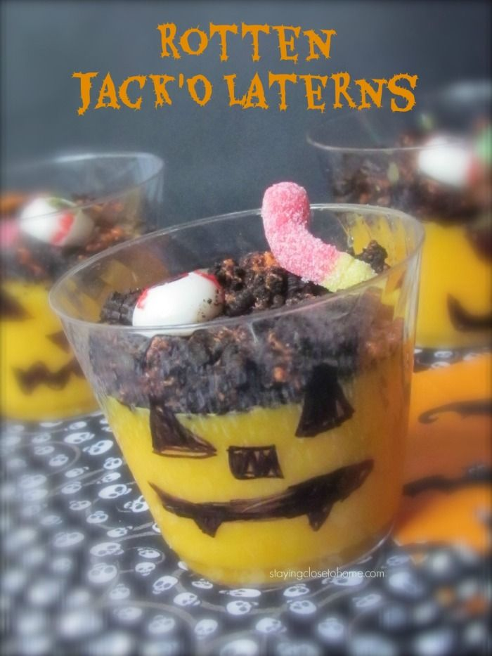 halloween pudding dessert ideas using trumoo - Pudding Halloween Desserts