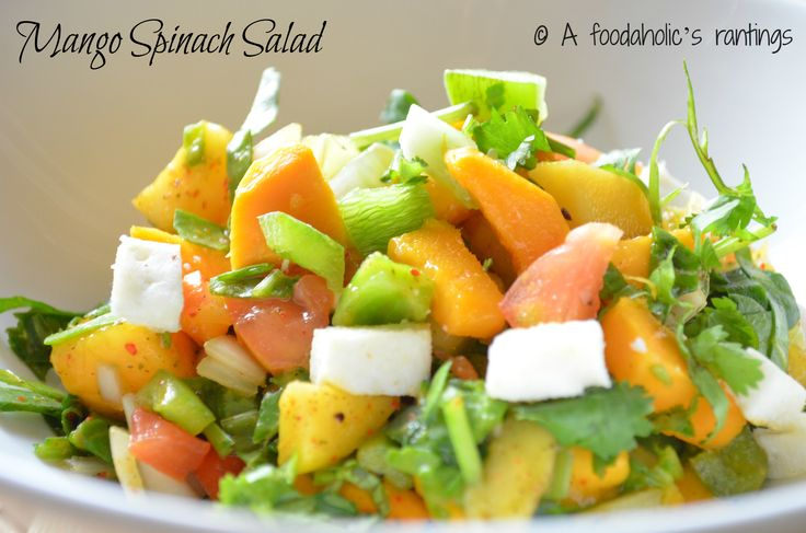Mango  Spinach Salad