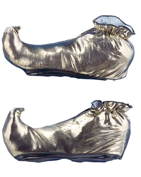 From The Discount Costume Store Gold Genie Shoes