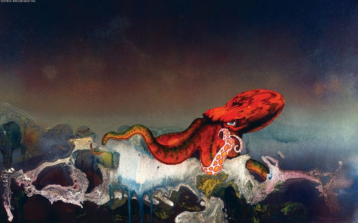 This morning we take a look through a few of English illustrator, designer, and architect Roger Dean's landscapes. Dean is best…