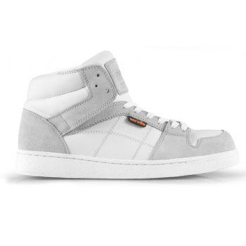 Scruffs Asteroid Ankle Safety Trainer  White/Grey