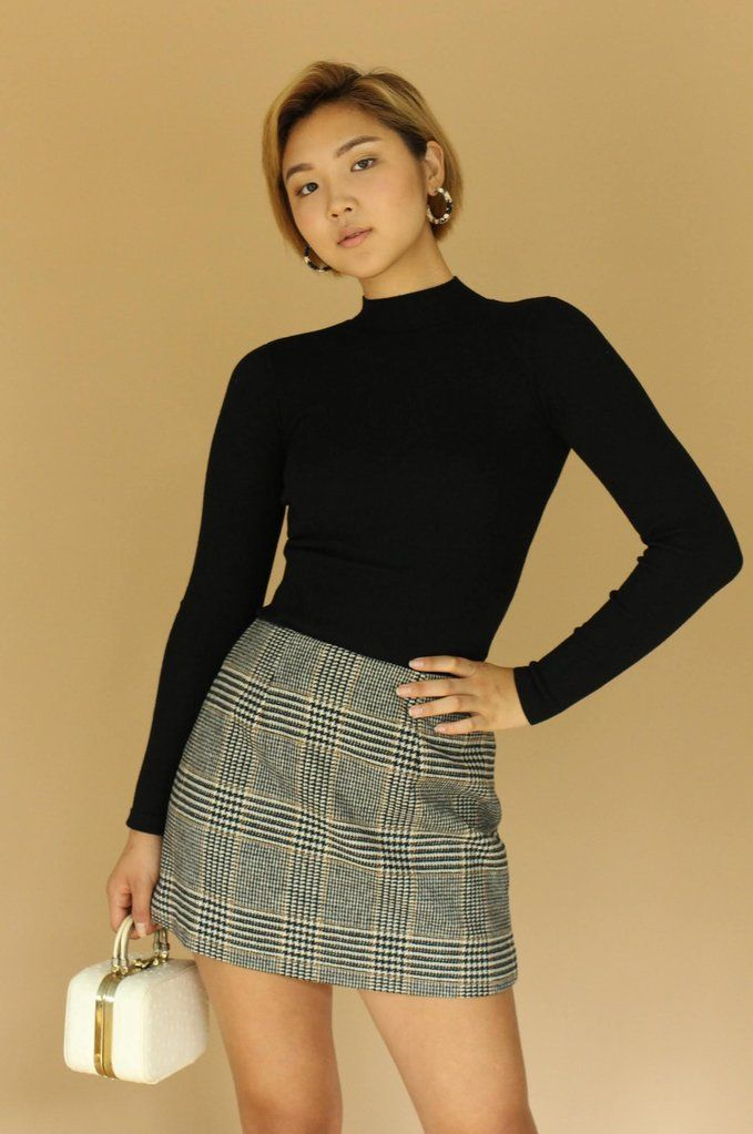 10decffef Black Plaid Wool Mini Skirt now available at Dear Society. #style #fashion  #ootd #lookoftheday #outfits #model #photoshoot #allthingsdear #dearsociety  #shop
