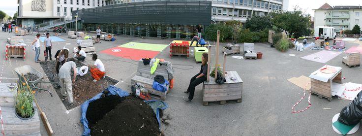 Le parking, « Ici bientôt ! » Collectif ETC  A l'occasion des Journées de l'Architecture, le Collectif ETC a réinvesti le parking de l'INSA de Strasbourg.
