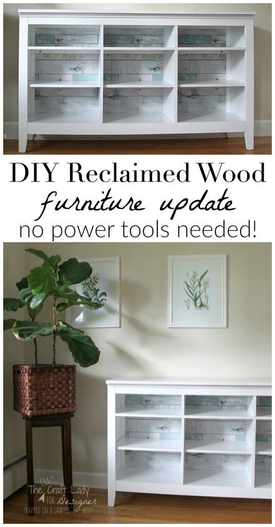 Getting the Reclaimed Wood Look (no power tools required) - A Guest Post. Inexpensive  FurnitureRecycled ...