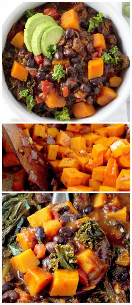 Spicy Sriracha Black Bean and Butternut Squash Chili