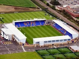 Greenhous Meadow, home of Shrewsbury Town FC