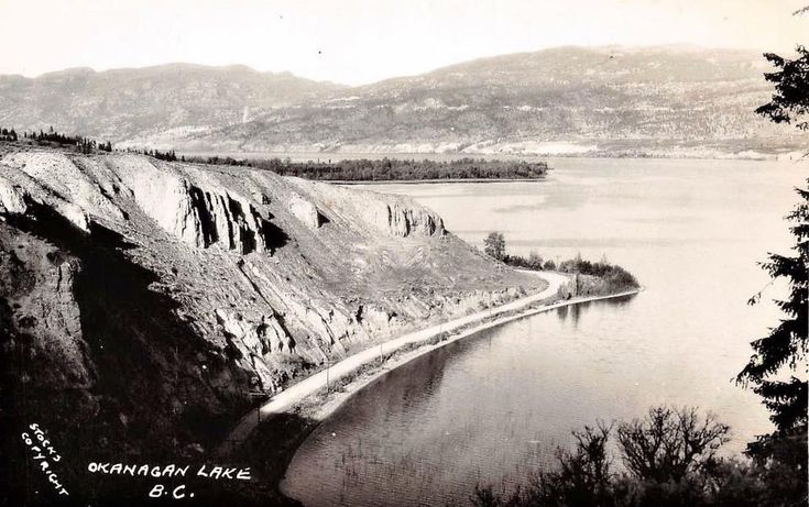 Road Penticton to Summerland  OLD