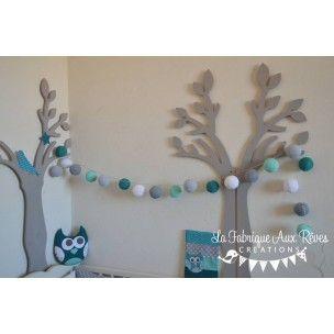 Guirlande lumineuse turquoise pétrole gris - lafabriqueauxreves.clicboutic.com