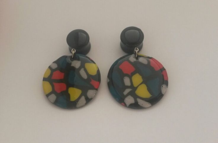 ear plugs 81012141620 mm polymer clay and resin by PolySanAntoni, €10.00