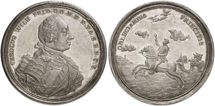 German States/Brandenburg-Ansbach AR Taler ND Karl Wilhelm Friedrich 1729-57 Margrave