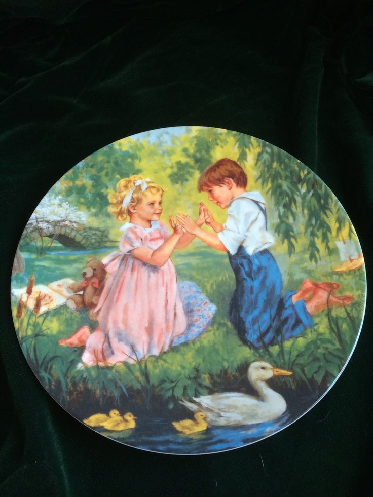 "Edwin M Knowles ""Pat A Cake"" by John McClelland Numbered Plate 