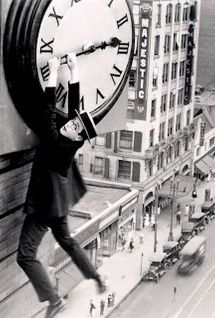 No camera tricks, clever stunts or CGI, Harold Lloyd was actually hanging from this clock