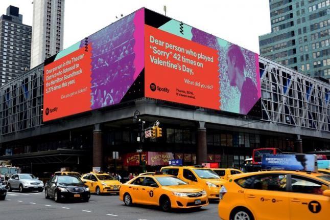 Spotify gebruikt luisterdata voor grootste reclamecampagne ooit