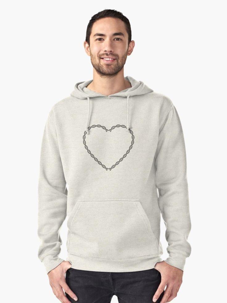 DNA heart pullover hoodie http://ift.tt/2ClpqDk