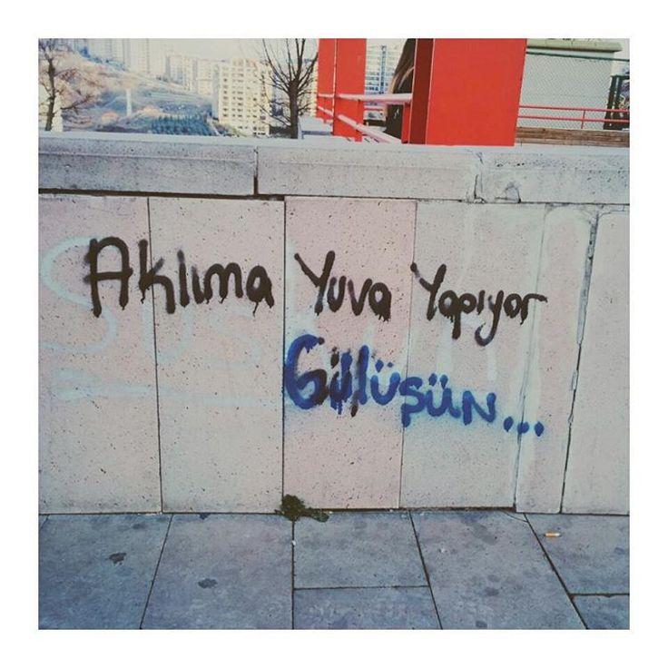 """alisilmisindisi: """" ❤ #duvaryazıları #sokakyazıları #turkeystreetart #vscocamphotos #vscoturkey #dikmen #ankara (Ankara Dikmen) """""""