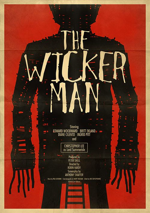 Robin Hardy's 'The Wicker Man', 1973 - First off, most viewers come to this film assuming it's a British horror movie, a la the Hammer films, but it's not, it's actually a mystery-thriller with strong religious & heavy sexual overtones. There's too many religious & sexual implications in this little cult classic to elaborate here. But if you're looking for great acting, sweaty palm suspense with a bizarre twist ending then this violent 1970s haunting thriller is for you!