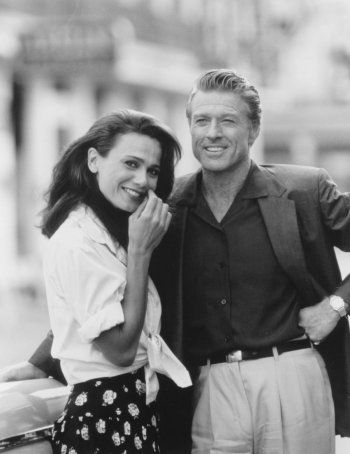 lena Olin and Robert Redford in Havana directed Sydney Pollack, 1990