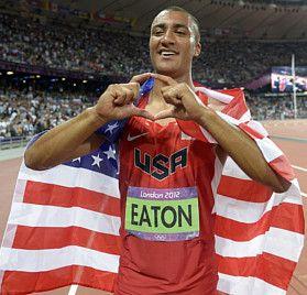Ashton Eaton, decathalete...World Champion Moscow 2013, freaking beast