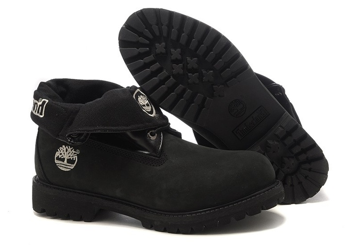 Top A+ Mens Timberland Roll-Top Shoes Black