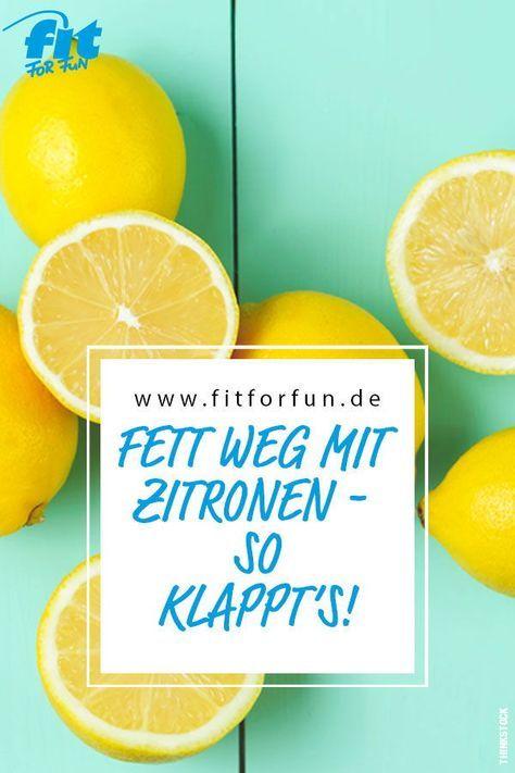 Kann man mit Hilfe von Zitronen tatsächlich Fett verbrennen? Ja - wir zeigen dir wie es geht! #abnehmen #fatburning #diät #fitness
