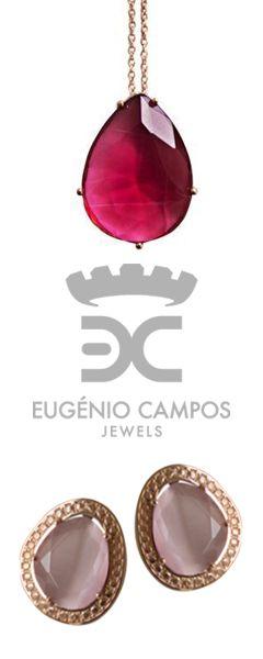 A colecção Eugénio Campos, representada por Mariana Monteiro. Jóias lindíssimas e imponentes em prata com pedras de diversos tons.