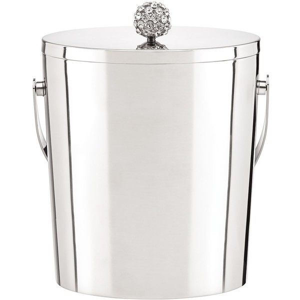 Kate Spade Two Of A Kind Ice Bucket ($125) ❤ liked on Polyvore featuring home, kitchen & dining, bar tools and kate spade