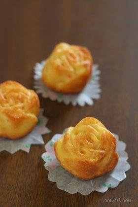 バラ型で☆オレンジケーキ [Orange Cake]