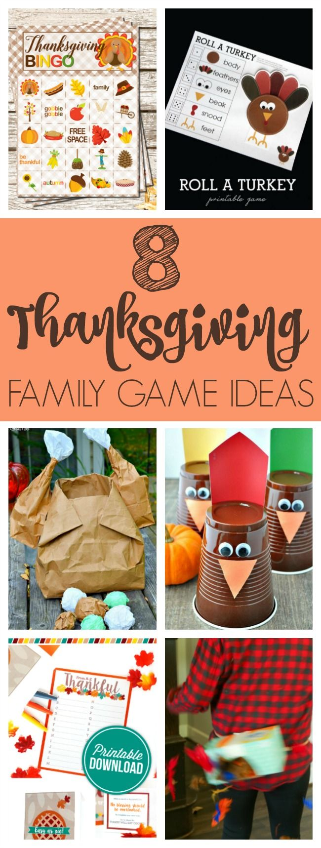 Thanksgiving Family Game Ideas via Pretty My Party