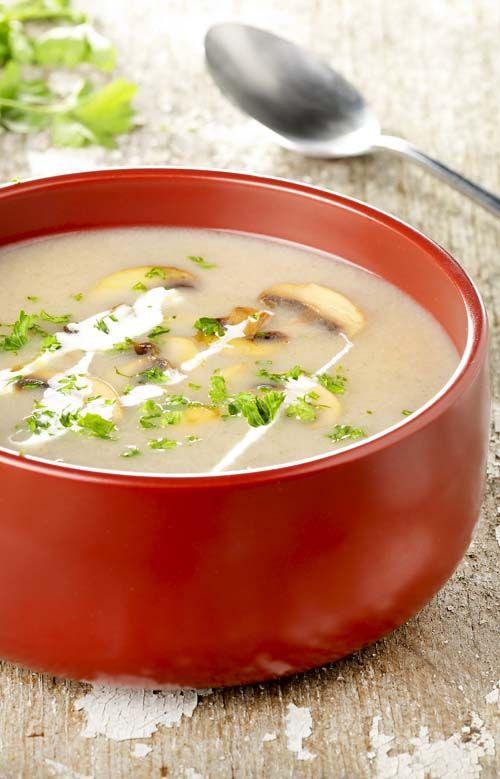Champignonsoep met peterseliestreepjes - Colruyt Culinair !