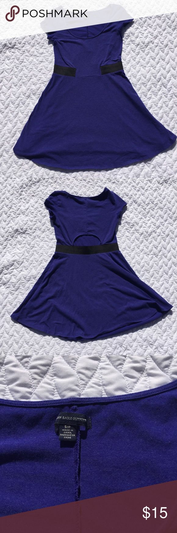 America Eagle Cutout Dress Great for this summer! In great condition. Has a cutout on the lower back portion of the dress. American Eagle Outfitters Dresses