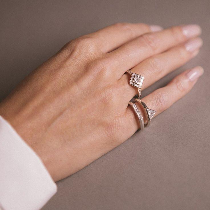 112 best Unique Engagement Rings images on Pinterest Designer