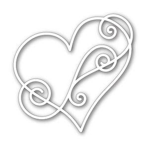 Simon Says Stamp SWIRL HEART Craft DIE SSSD111319 *