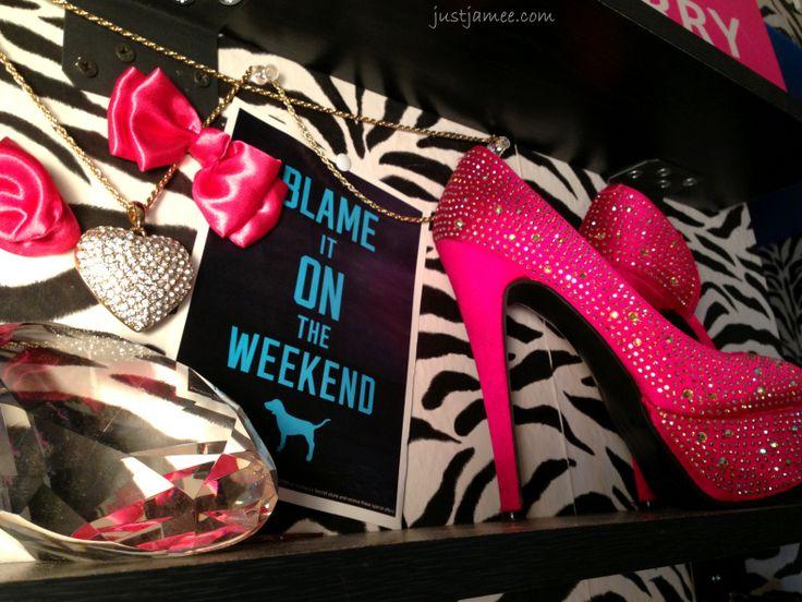 DIY Room Ideas #bows #rhinestones #heels #shoes #zebra
