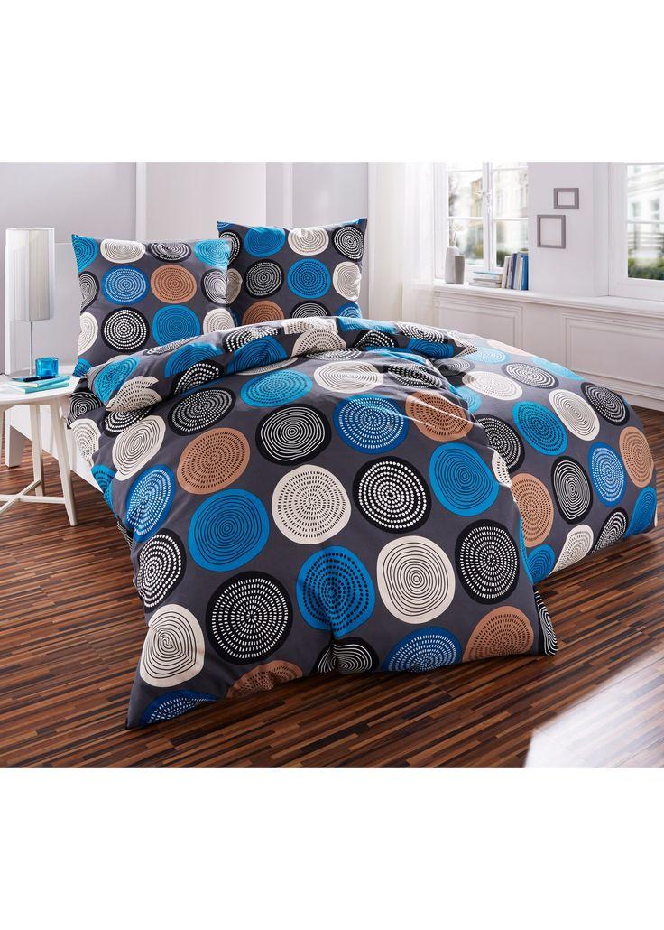 """Bettwäsche """"Kreise"""", Linon blau - bpc living jetzt im Online Shop von bonprix.de ab ? 19,99 bestellen. Die moderne Bettwäsche """"Kreise"""" ist ein echter ..."""