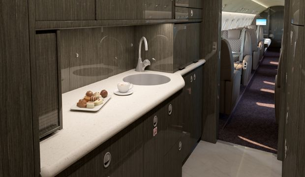 Legacy 650 Executive Jet Galley