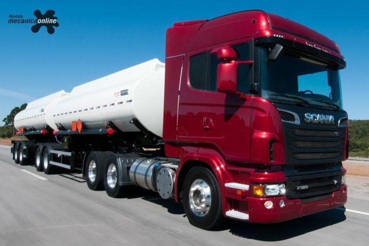 Linha de caminhões V8 da Scania: maior potência no Brasil