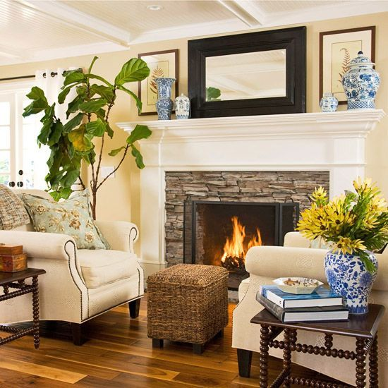 As Part Of The Renovation Homeowners Added A New Fireplace To Anchor Living Room Creates Warm And Cozy Atmosphere Gives